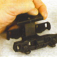 Here's another super handy backing stake. It is the BR1- SP which fits snugly and firmly on the inside of Lionel F3 and GP side frames as shown here.